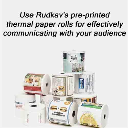 Pre-Printed Thermal Paper rolls